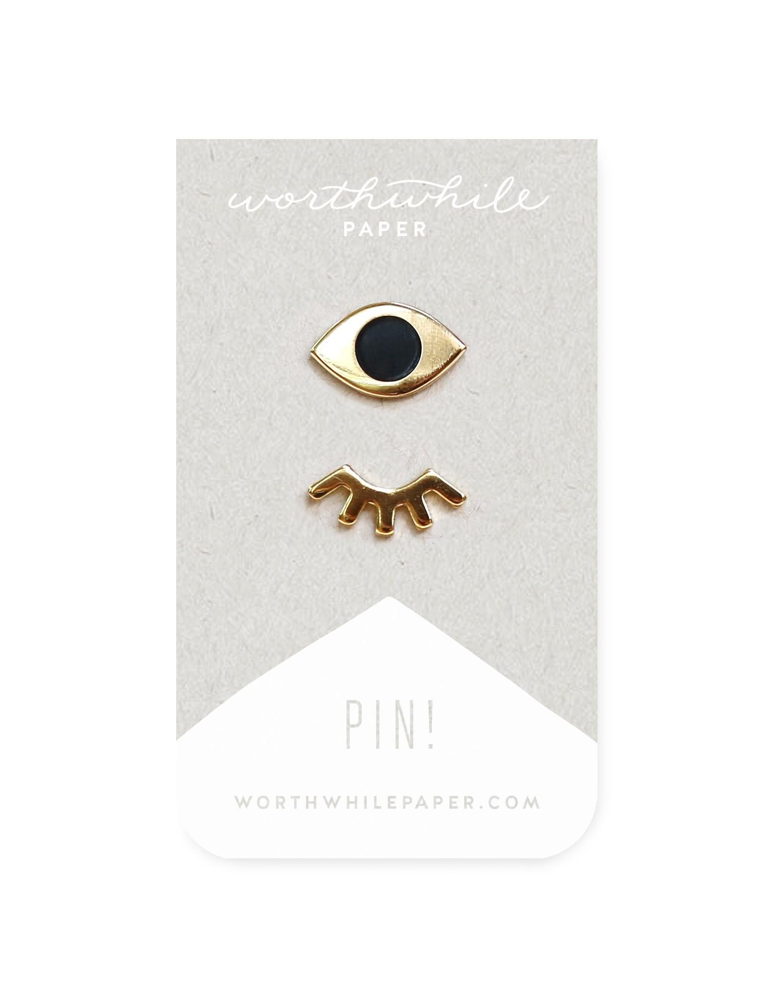 "Enamel Pin 2 pc. Set ""Winky Eyes"" - Worthwhile Paper"