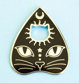 Bee's Knees Industries Enamel Pin cat planchette - by Bee's Knees