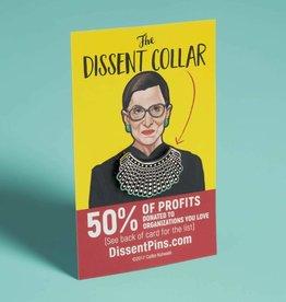 Dissent Pins ''RBG Dissent Collar'' Enamel Pin - Dissent Pins