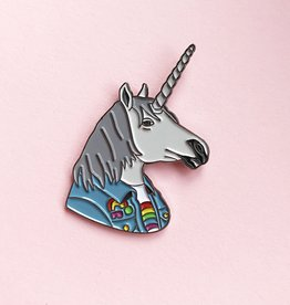 Berkley Illustration ''Unicorn'' Animal Portrait Enamel Pin - Ryan Berkley