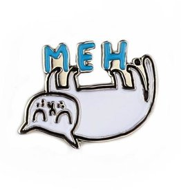 "Enamel Pin ""Meh."" Cat by Gemma Correll"