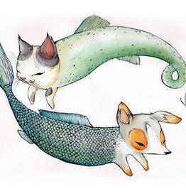 "Marika Paz Dogfish Catfish, 8.5 x 11"" Print - Marika Paz"