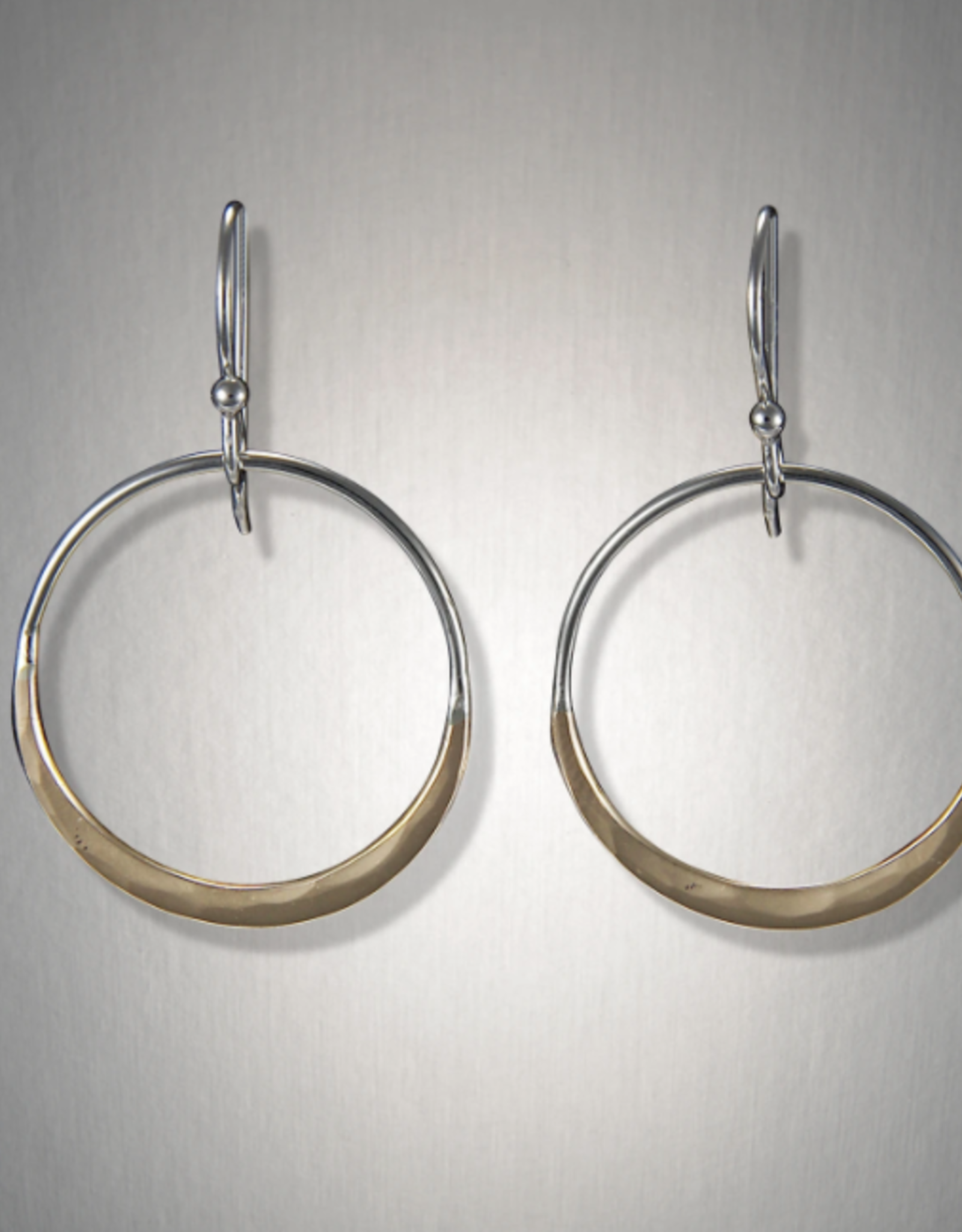Peter James Jewelry Sterling Hoop w/ Gold Fill Arch Earrings, Small - Peter James Jewelry