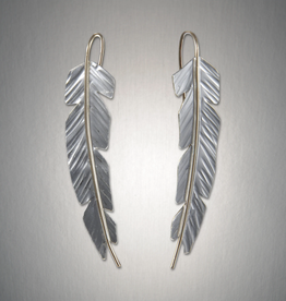 Peter James Jewelry Feather Earrings, Sterling + Gold Fill - Peter James Jewelry