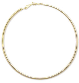 Simple Hoop Earring, 50mm, 2 inch gold plated