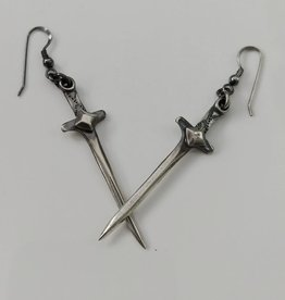 Sword Earrings, Oxidized Sterling - Missy Industry