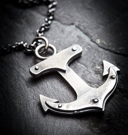 Anchor Necklace, Oxidized Sterling - Missy Industry