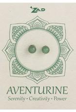 Aventurine Round Post Earrings