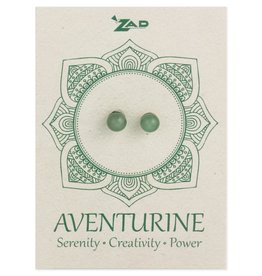 Aventurine Round Post Earrings