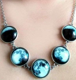 Glow in the Dark Moon Phases Necklace