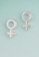 Woman Symbol Post Earring