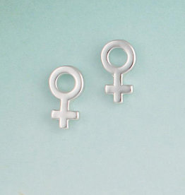 Woman Symbol Post Earring