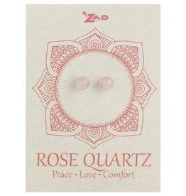 Rose Quartz Round Post Earrings