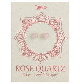 Rose Quartz Round Post Earrings