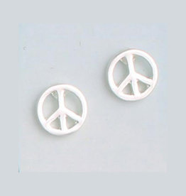 Peace Sign Post Earrings