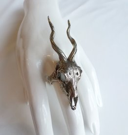 LAS Collective Gazelle Skull Ring - LAS Collective