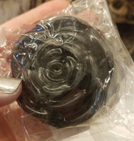Coph Nia Apothecary Jasmine + Rose Activated Charcoal ; Rose shape