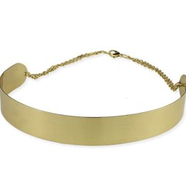 Wide Metal Choker Necklace