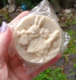 Coph Nia Apothecary Alice in Wonderland Round Bar (White Rabbit), Sweet Orange Spice Soap