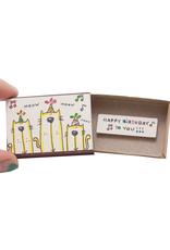 Matchbox Card Birthday Cats Singing