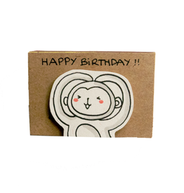 Matchbox Card Birthday Monkey