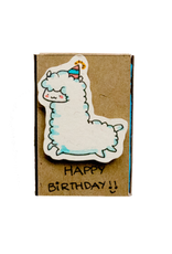 Matchbox Card Birthday Llama
