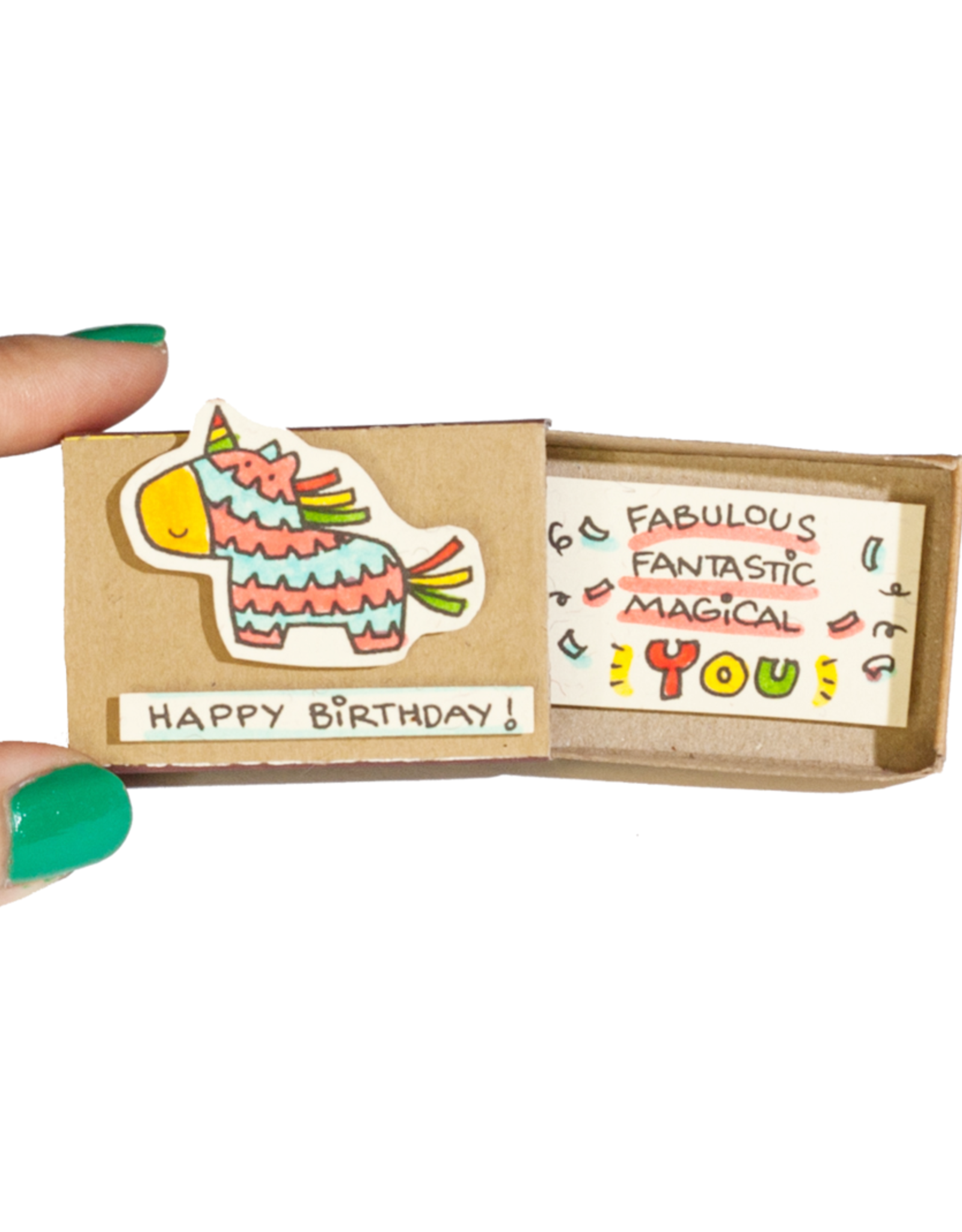 Matchbox Card Birthday Piñata