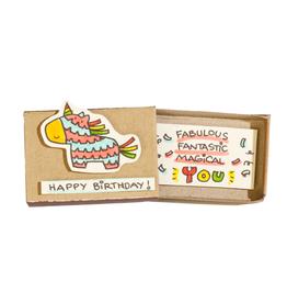 Matchbox Card Birthday Piñata