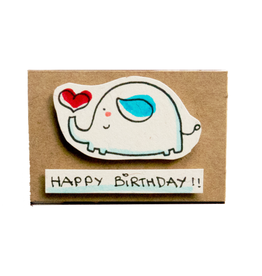 Matchbox Card Birthday Elephant