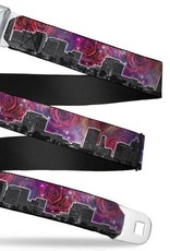 Buckle Down Belts Portland Vivid Skyline Cosmic Roses  - Starburst Seatbelt Belt