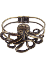 Hinged Octopus Cuff Bracelet