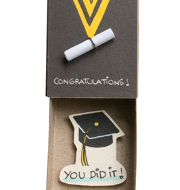 Matchbox Card Congratulations Graduate