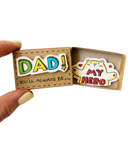 Matchbox Card Dad You'll Always Be My Hero