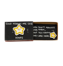 Matchbox Card Good Friends Are Like Stars