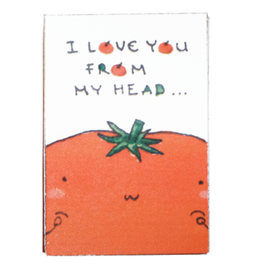 Matchbox Card From My Head Tomatoes