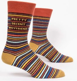 Blue Q Pretty Decent Boyfriend - Men's Crew Socks