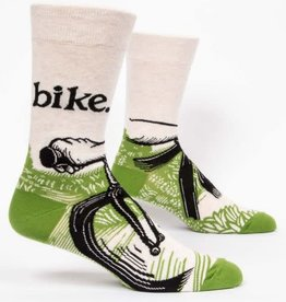 Blue Q Bike Path - Men's Crew Socks