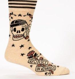 Blue Q Sorry In Advance - Men's Crew Socks