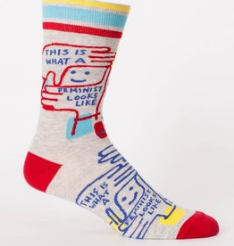 Blue Q This is What a Feminist Looks Like -  Men's Crew Socks