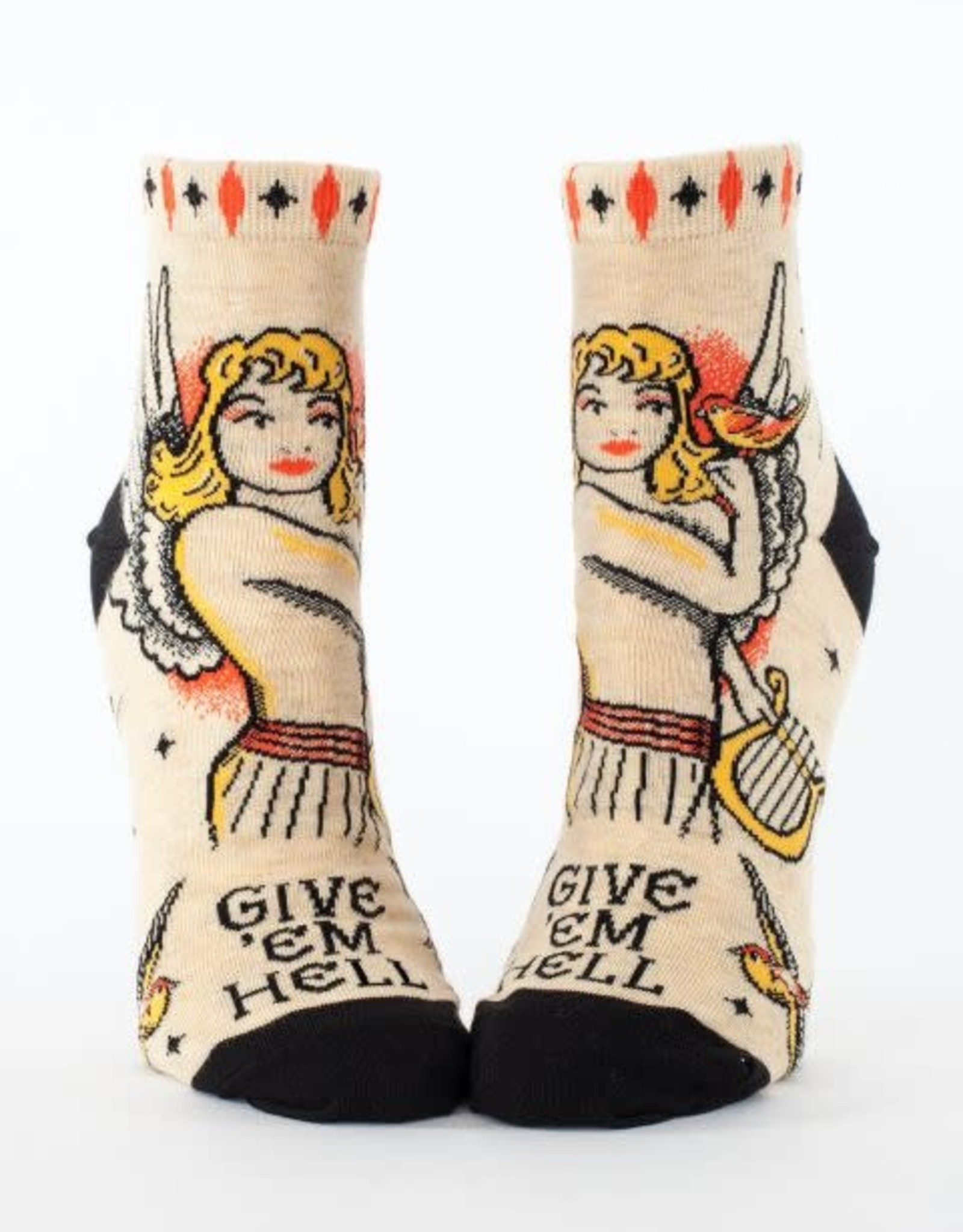 Blue Q Give 'em Hell - Women's Ankle Socks