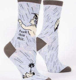 Blue Q Fuck This Shit - Women's Crew Socks