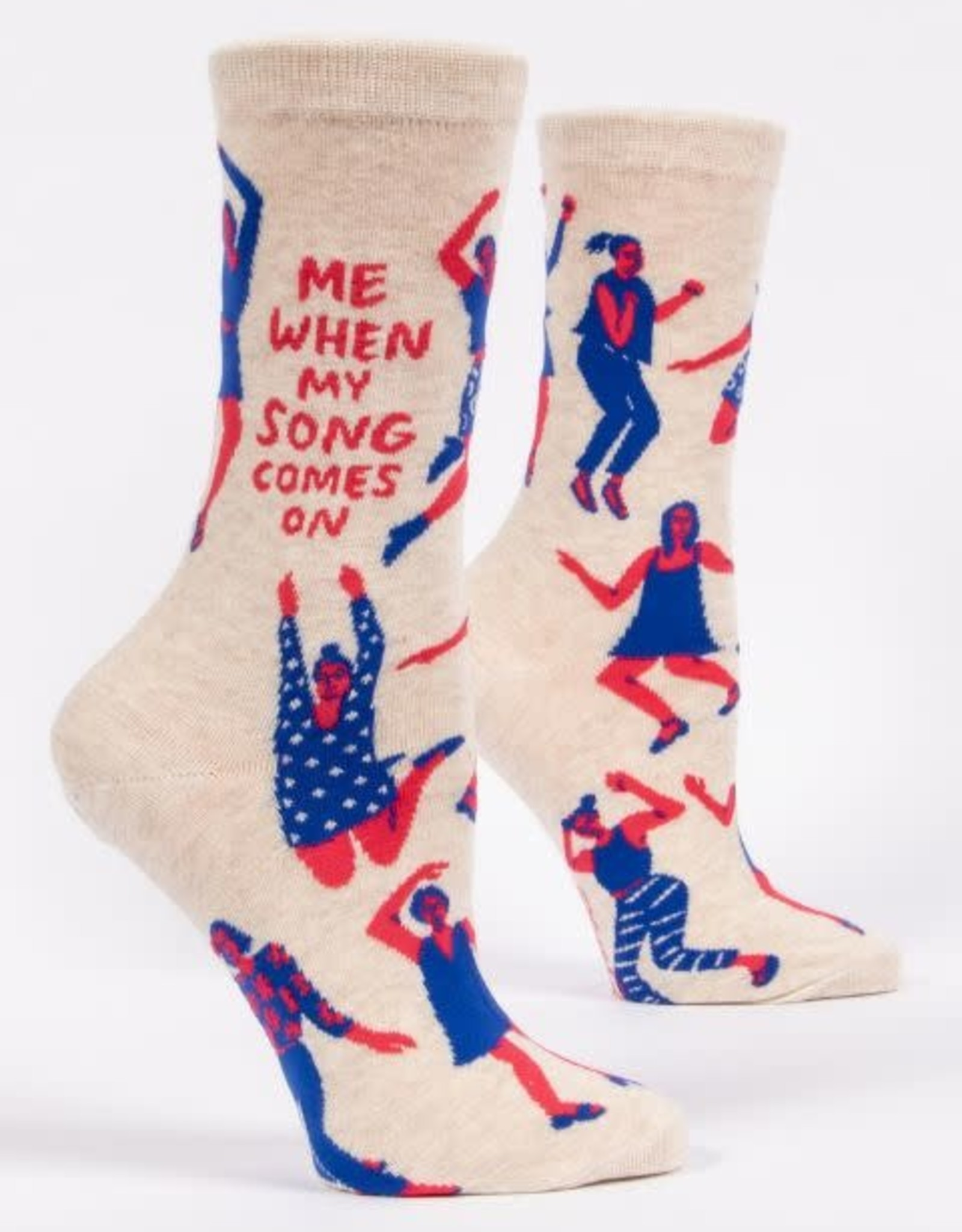 Blue Q Me When My Song Comes On - Women's Crew Socks
