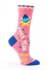 Blue Q Fuck Yeah Kind Of Day Socks - Women's Crew Socks