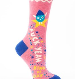 Blue Q Fuck Yeah Kind Of Day Socks - Women's Crew Socks