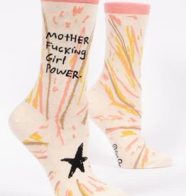 Blue Q Mother Fucking Girl Power - Women's Crew Socks
