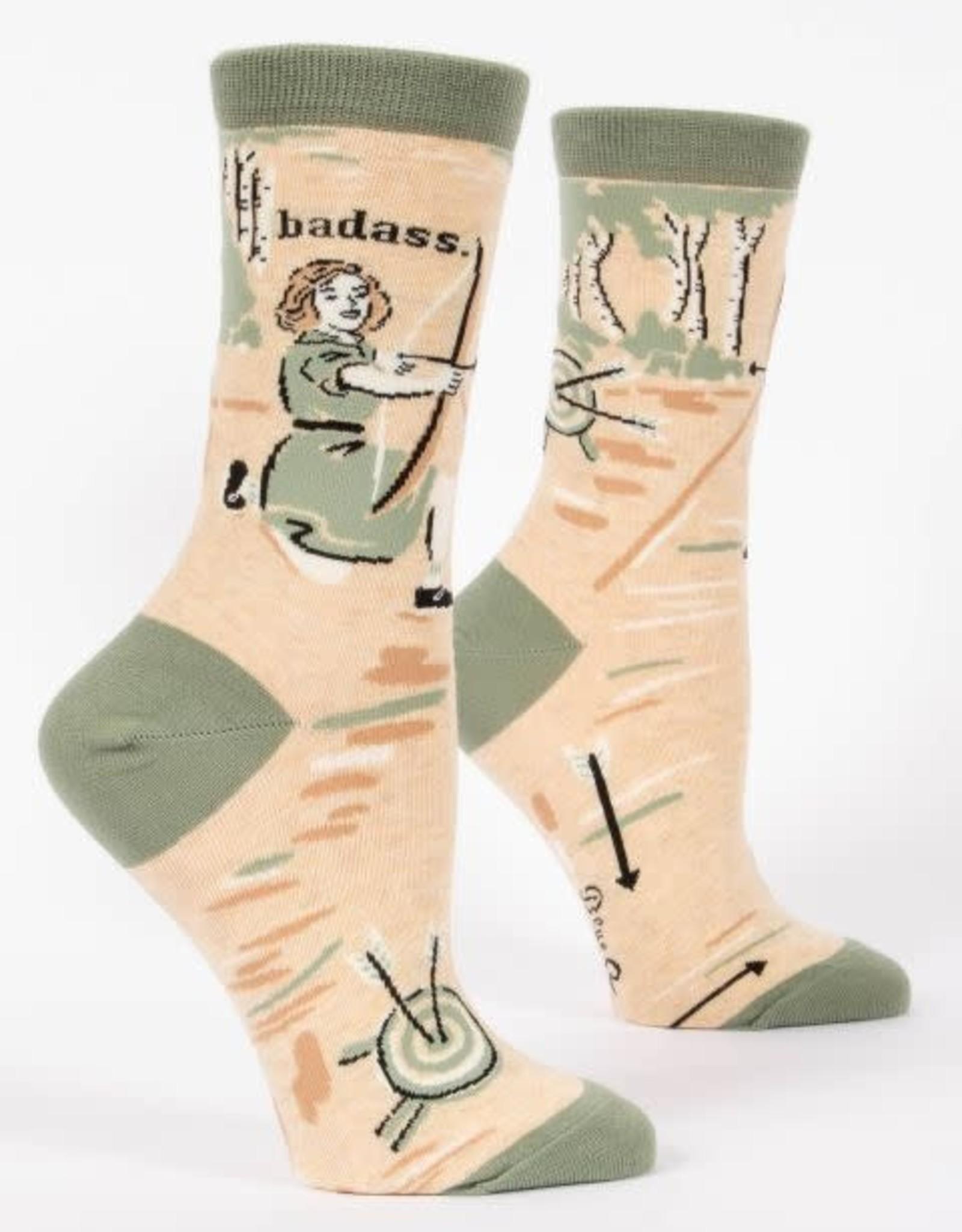 Blue Q Badass - Women's Crew Socks