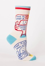 Blue Q This Is What A Feminist Looks Like - Women's Crew Socks
