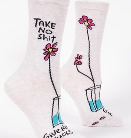 Blue Q Take No Shit Give No Fucks - Women's Crew Socks