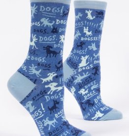 Blue Q Dogs!  - Women's Crew Socks