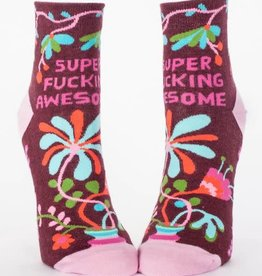 Blue Q Super Fucking Awesome - Women's Crew Socks